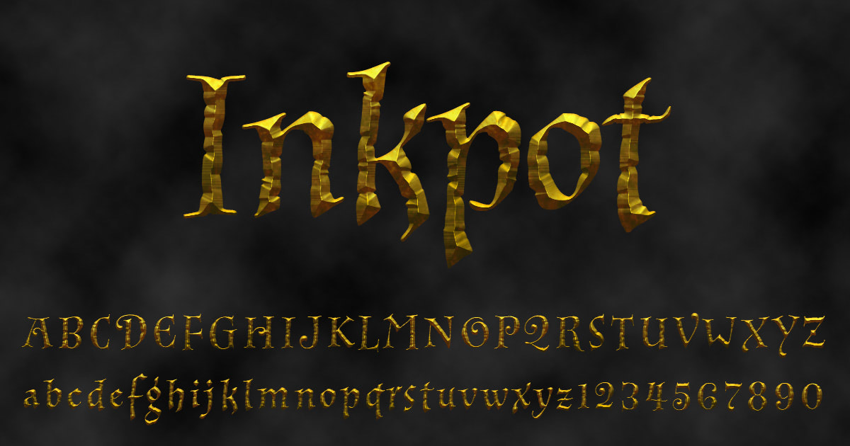 Download free 'Inkpot' font