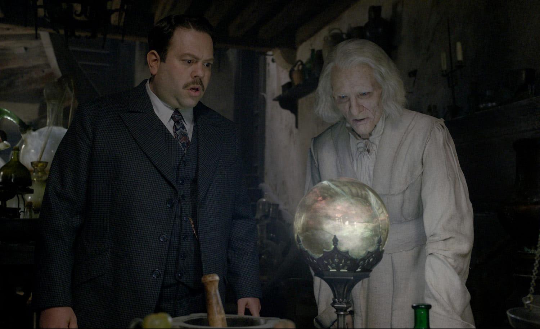 Jacob and Nicolas Flamel examine the crystal ball