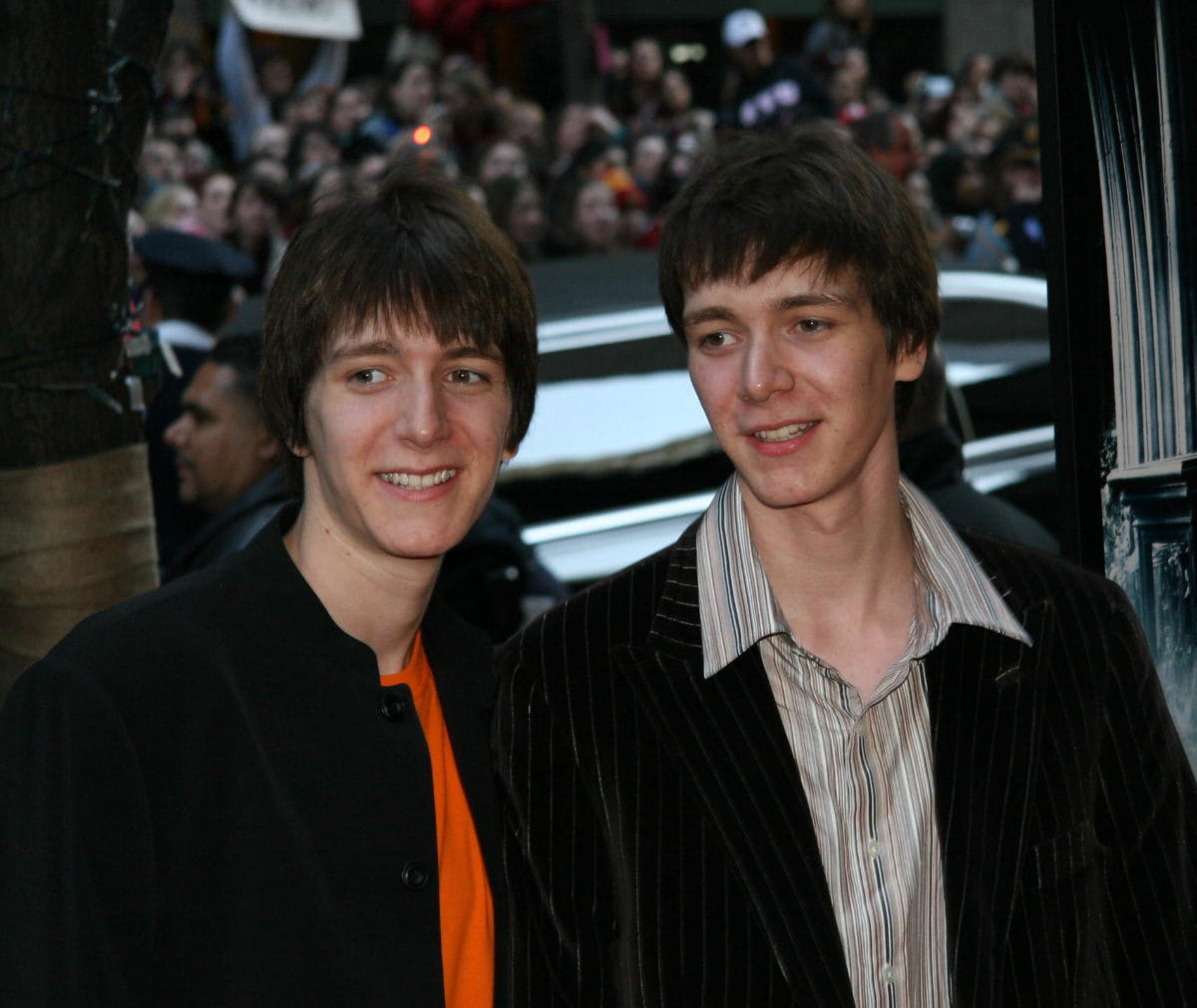 James and Oliver Phelps at the New York City 'Goblet of Fire' premiere
