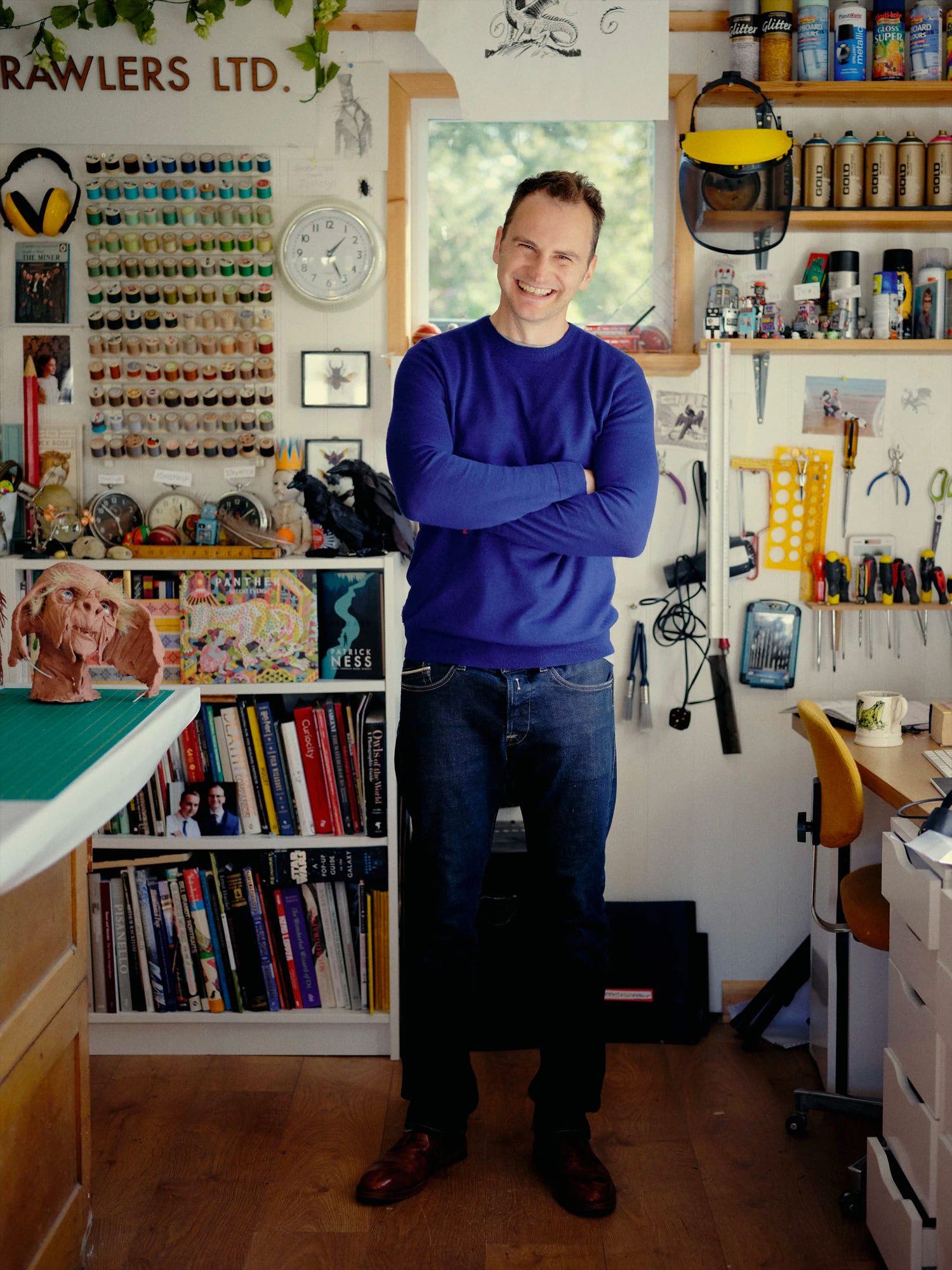 Portrait of Jim Kay in studio