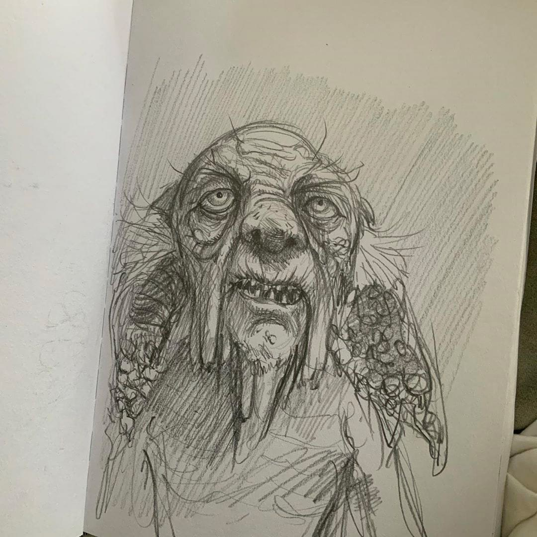 Preliminary sketch of Kreacher
