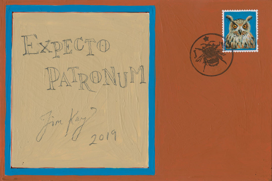 Patronus on a Postcard envelope (Jim Kay)