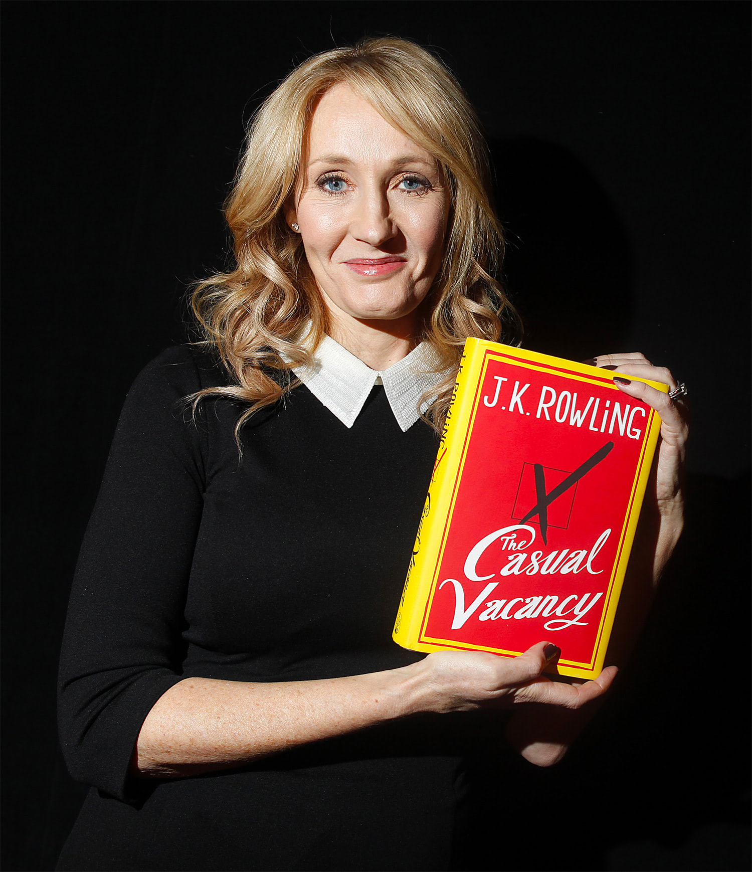 J.K. Rowling holds 'The Casual Vacancy'
