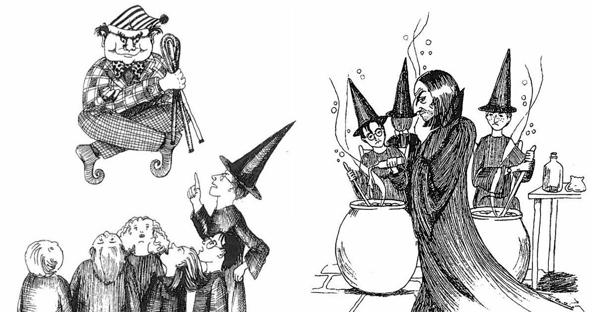 J.K. Rowling's 'Harry Potter' sketches