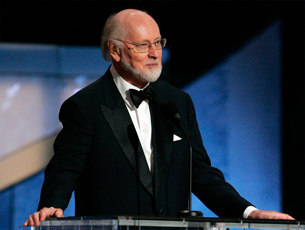 John Williams accepts an award