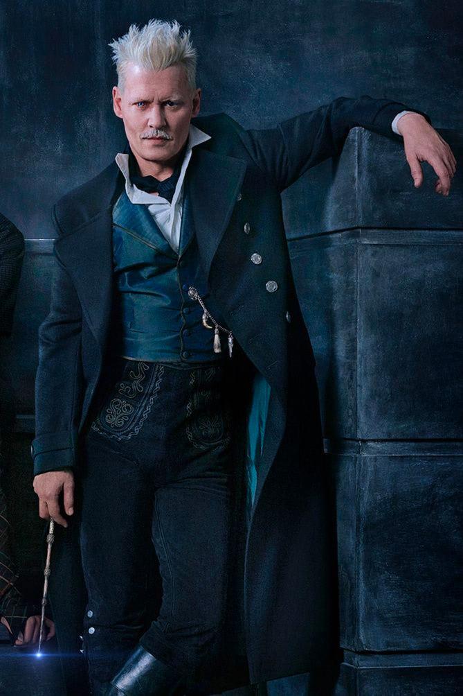 Johnny Depp as Gellert Grindelwald.
