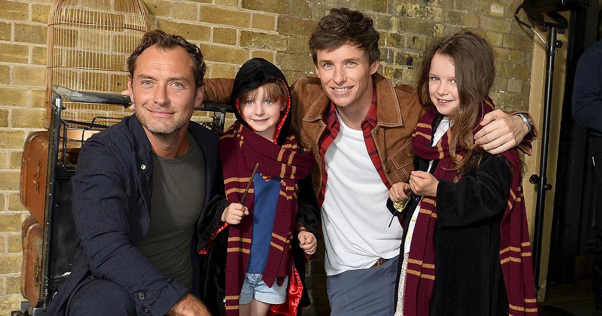 Eddie Redmayne and Jude Law celebrate 'back to Hogwarts day'