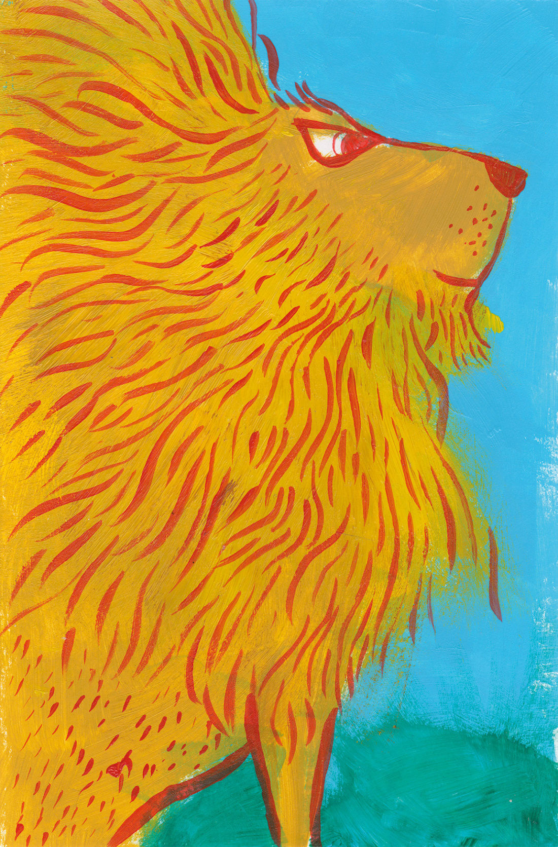 Lion (Ken Wilson-Max Patronus on a Postcard)
