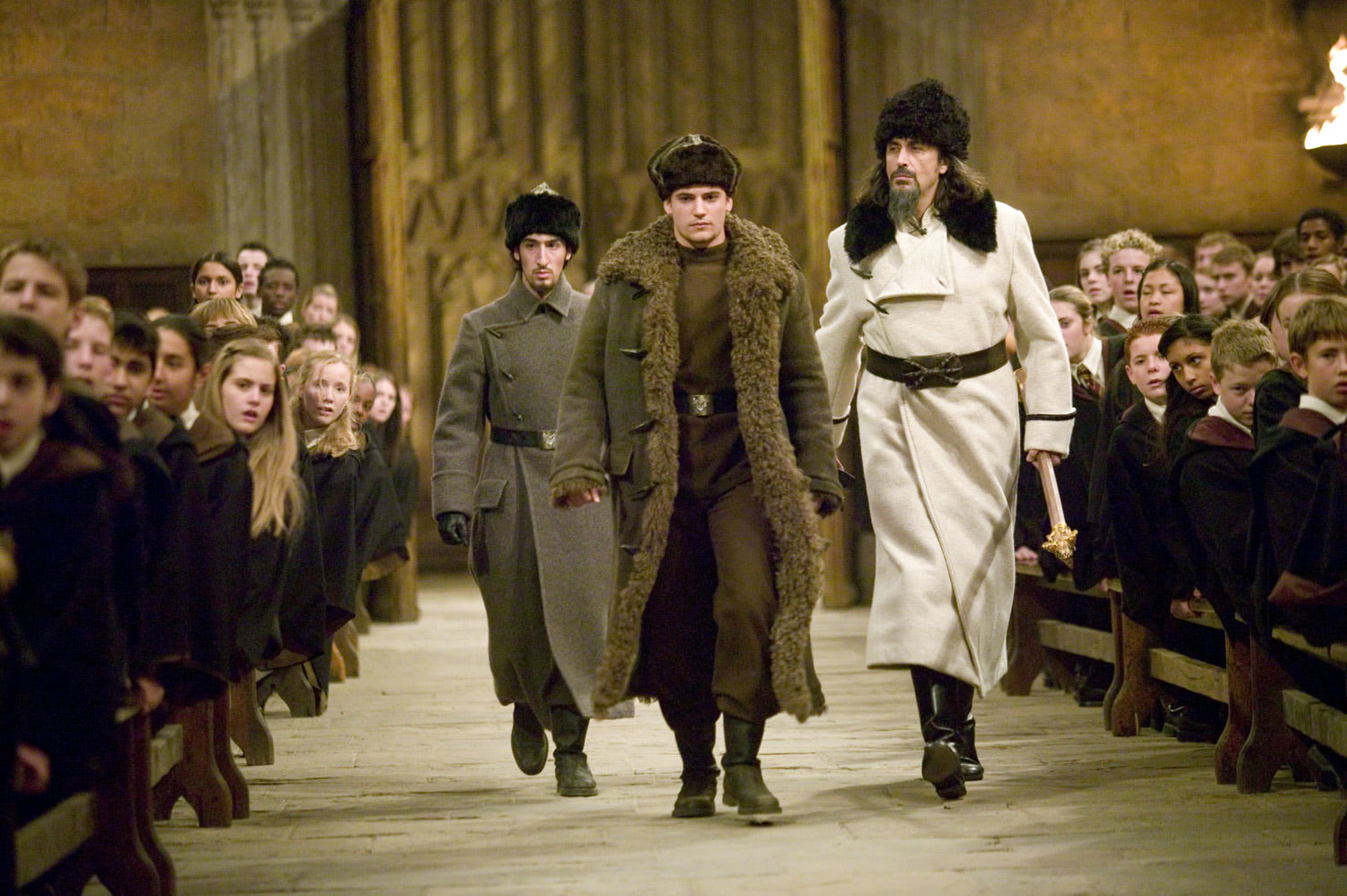 Krum and Karkaroff arrive at Hogwarts