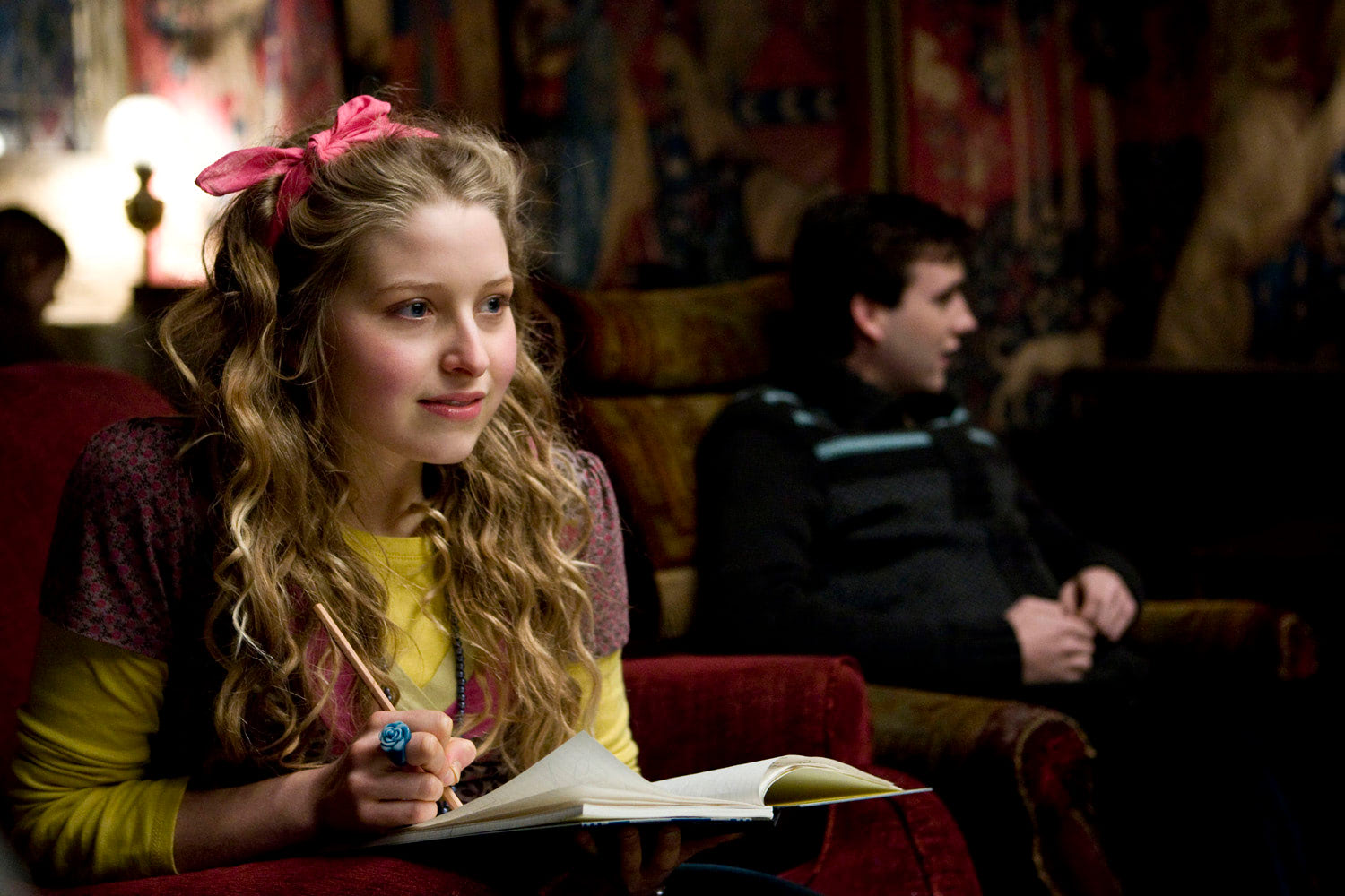Lavender Brown in the Gyffindor Common Room