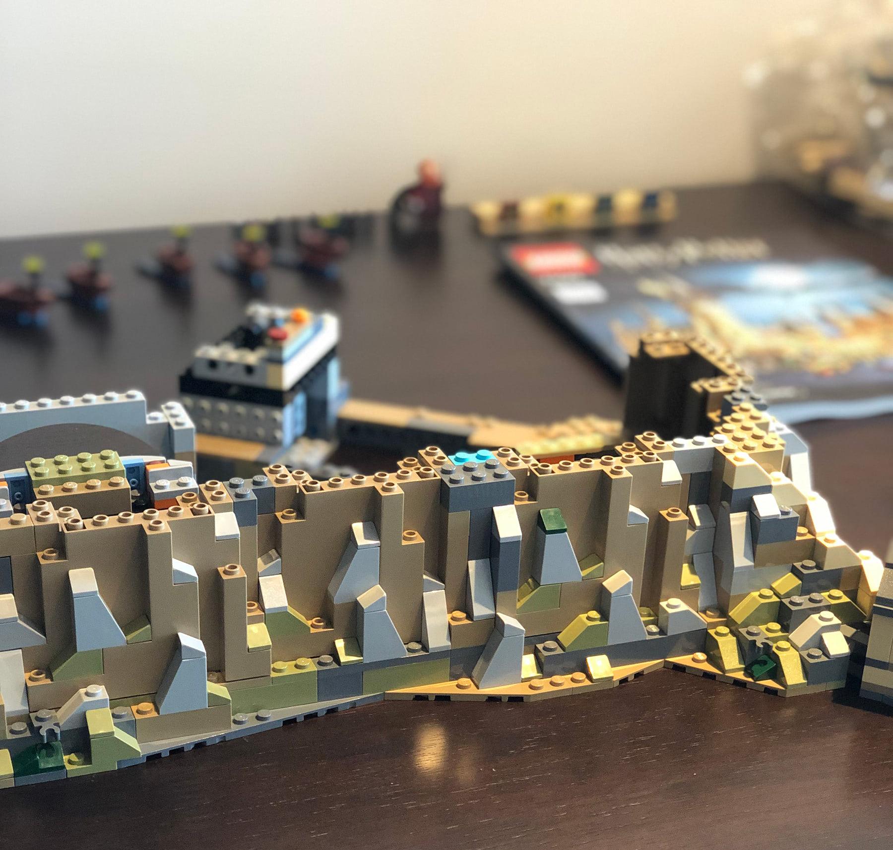 LEGO Hogwarts Castle (71043) rocky facade