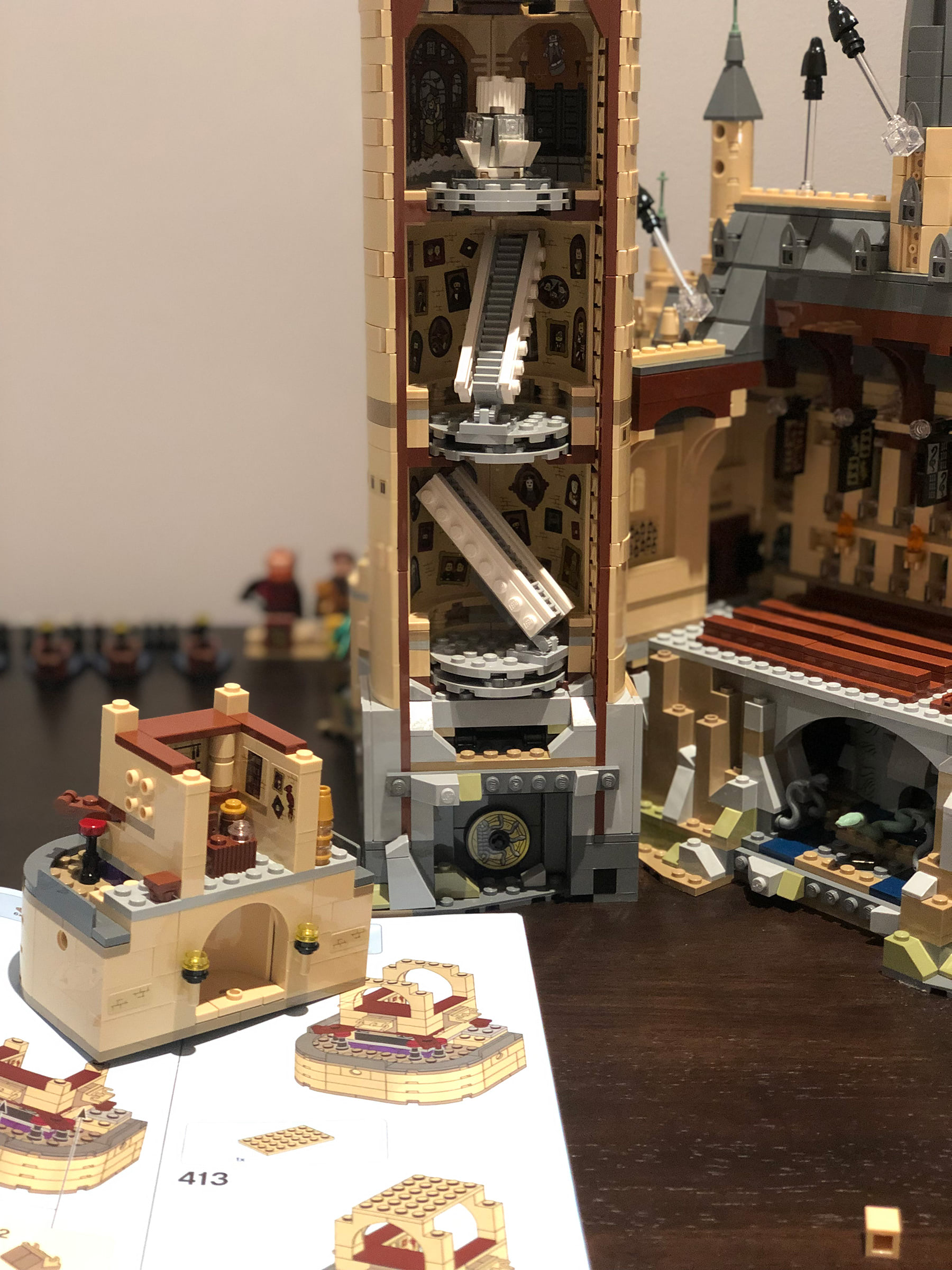 LEGO Hogwarts Castle (71043) towers and staircases