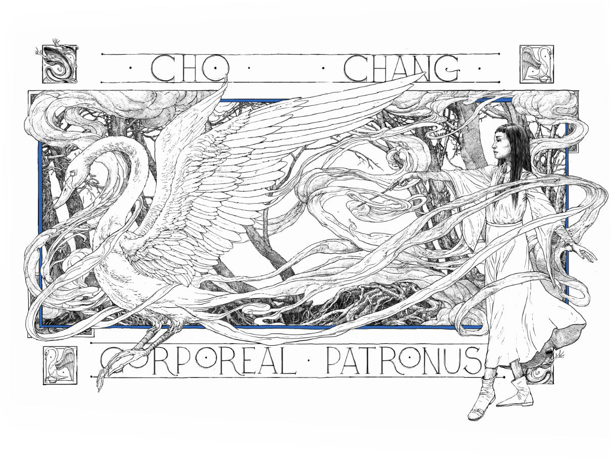 Cho Chang Patronus illustration (house editions)