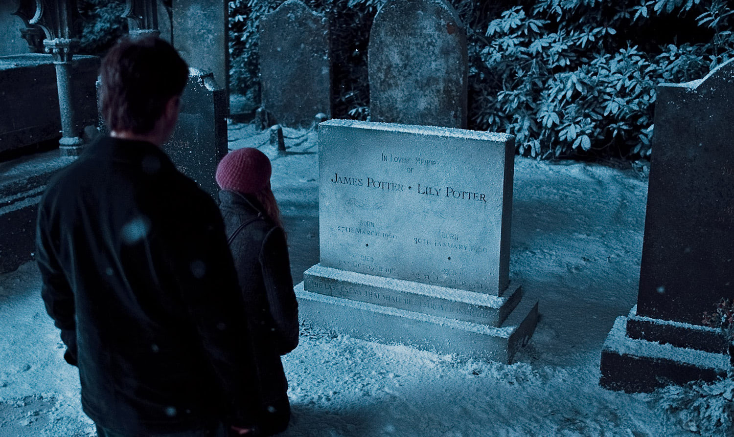 Lily and James Potter's grave