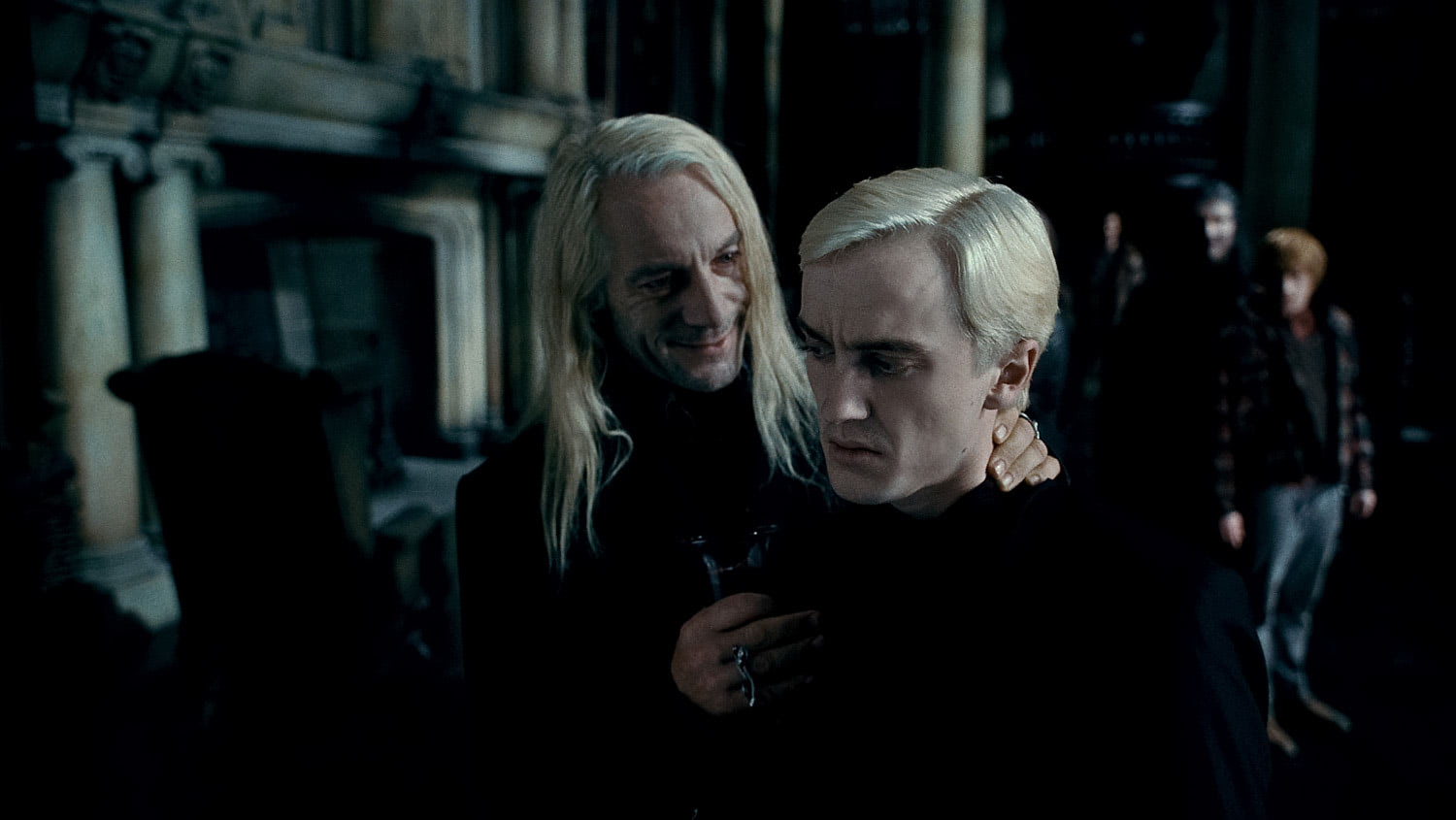 Lucius and Draco at Malfoy Manor
