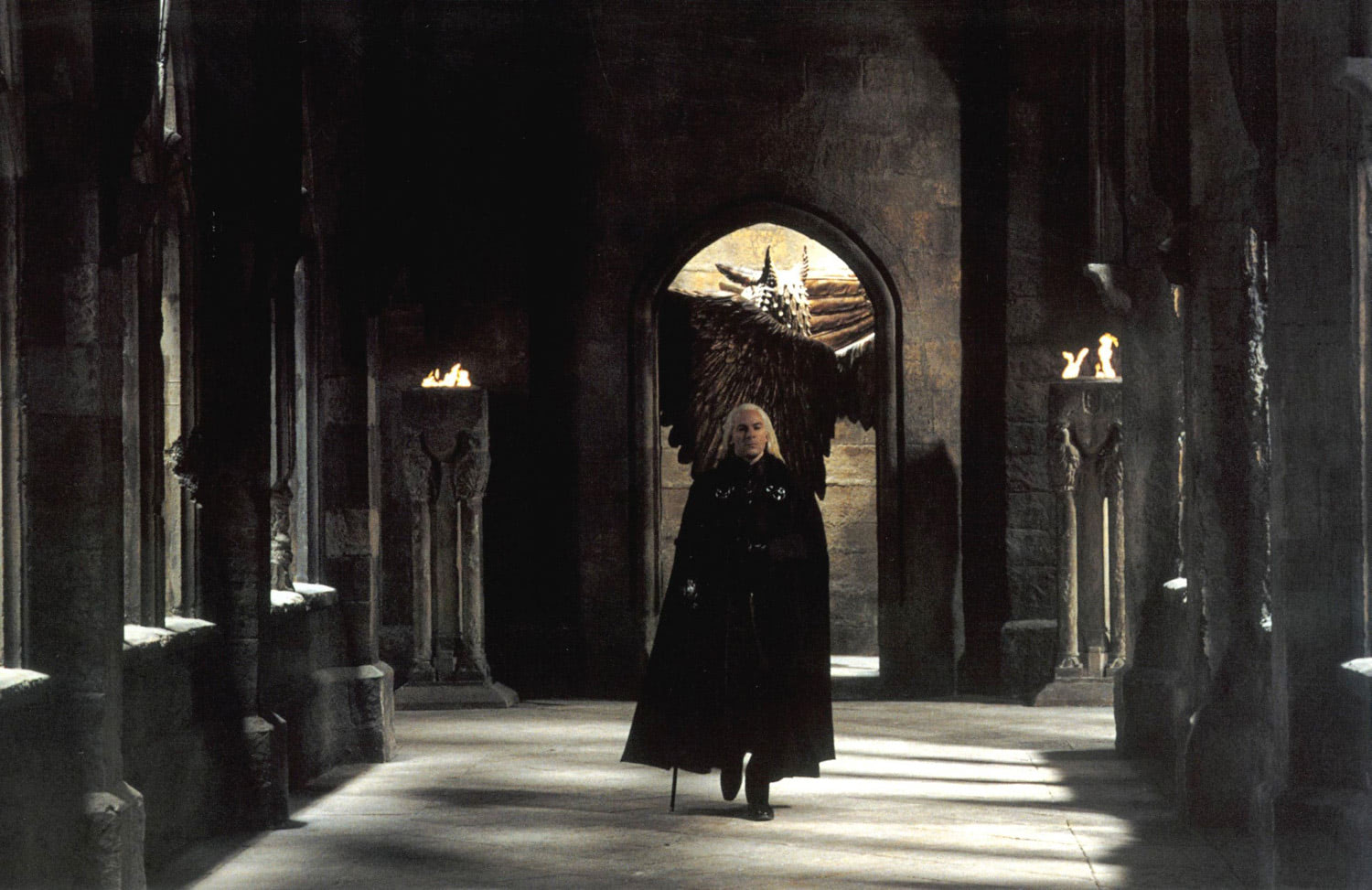 Lucius Malfoy arrives at Hogwarts