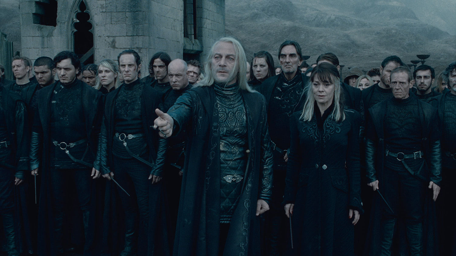 Lucius Malfoy beckons Draco
