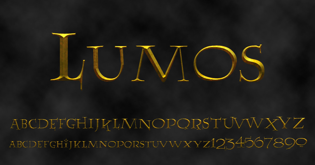 'Lumos' font
