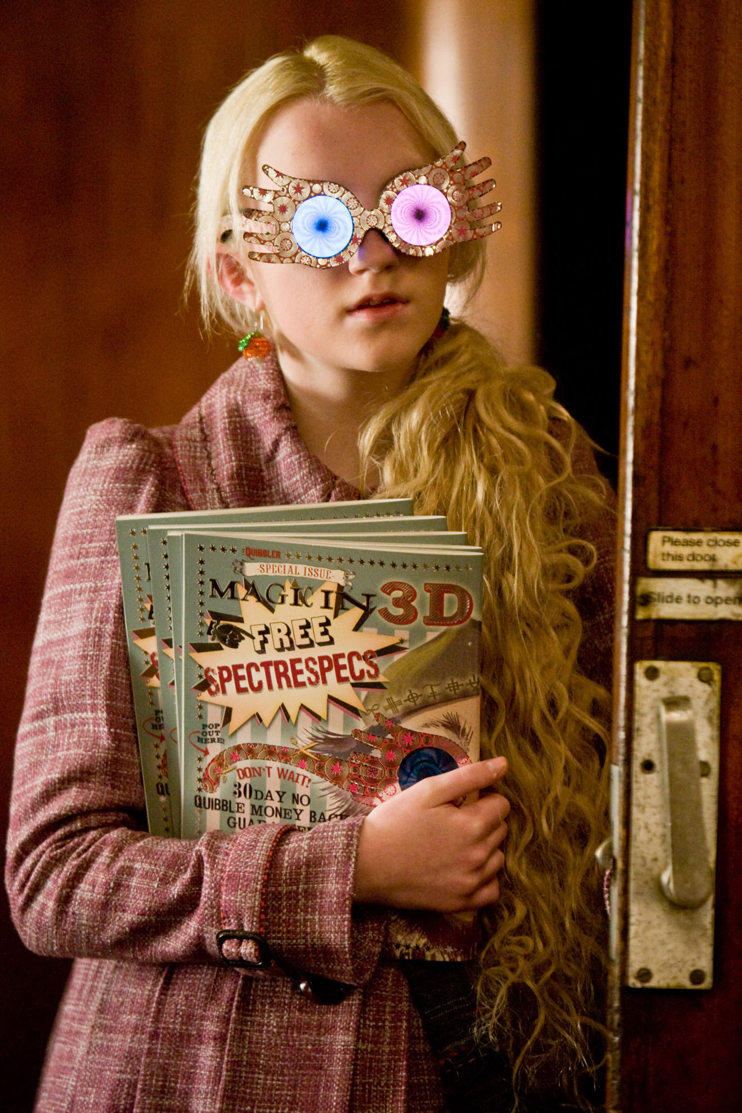 Luna Lovegood with The Quibbler