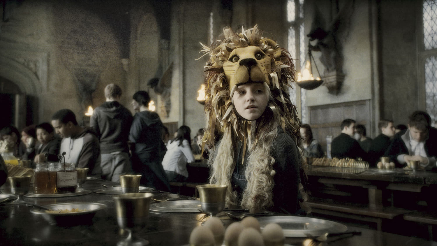 Luna with her Lion Hat