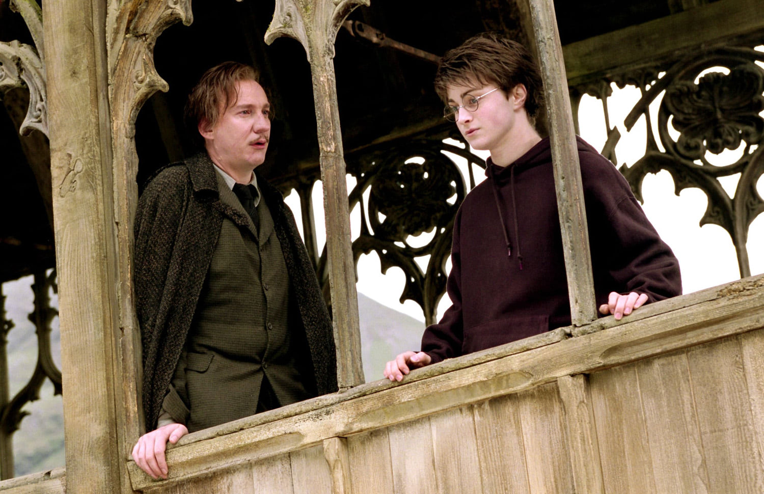 Lupin and Harry on the bridge