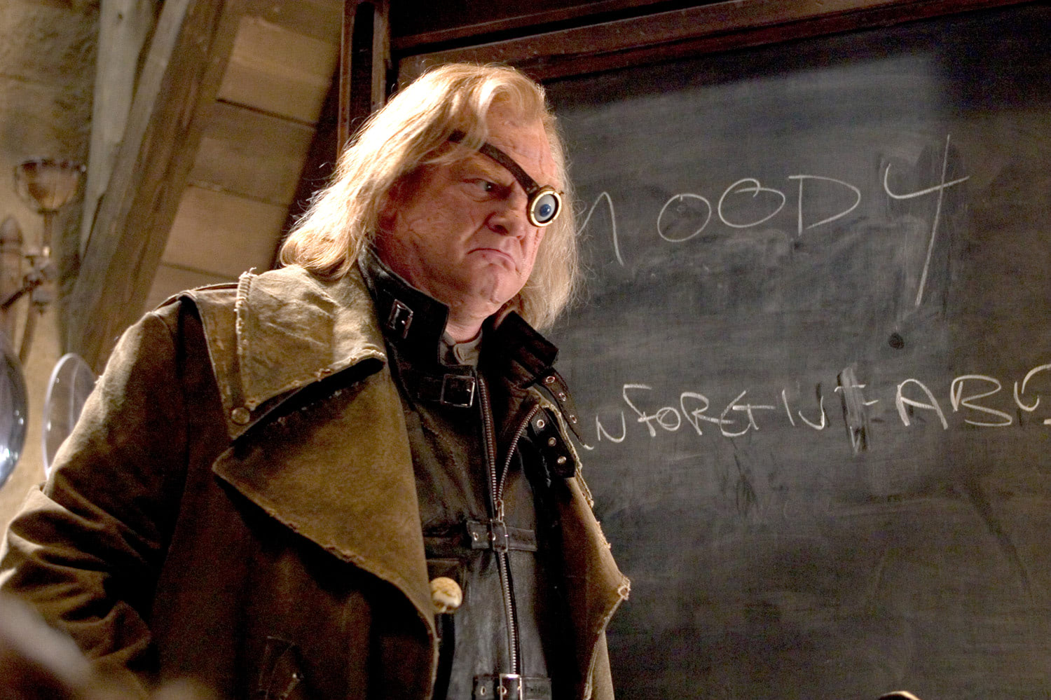 Mad-Eye Moody at the blackboard