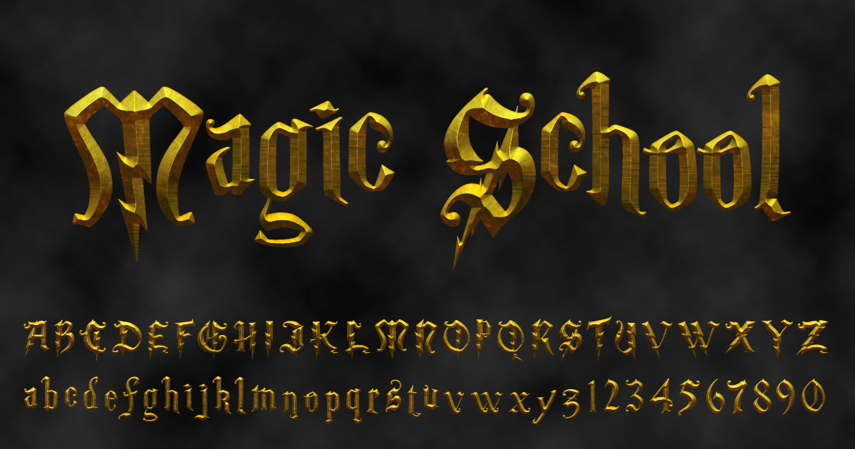 Download free 'Magic School' font
