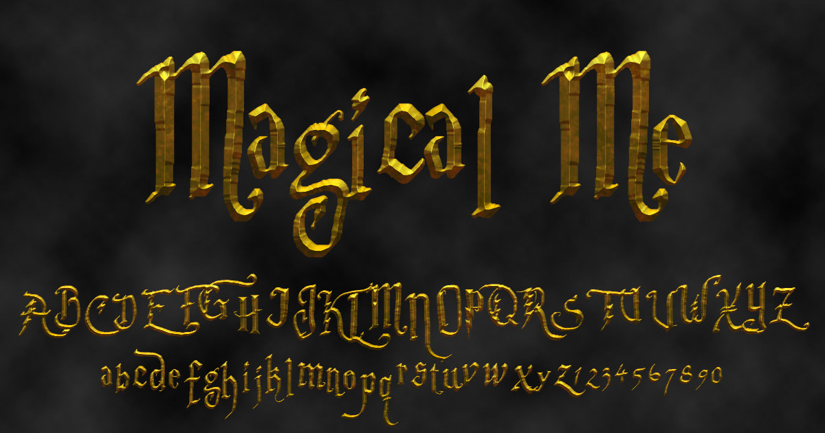 Download free 'Magical Me' font
