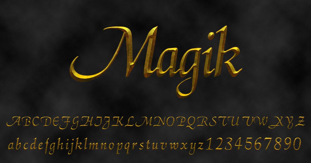 'Magik' font