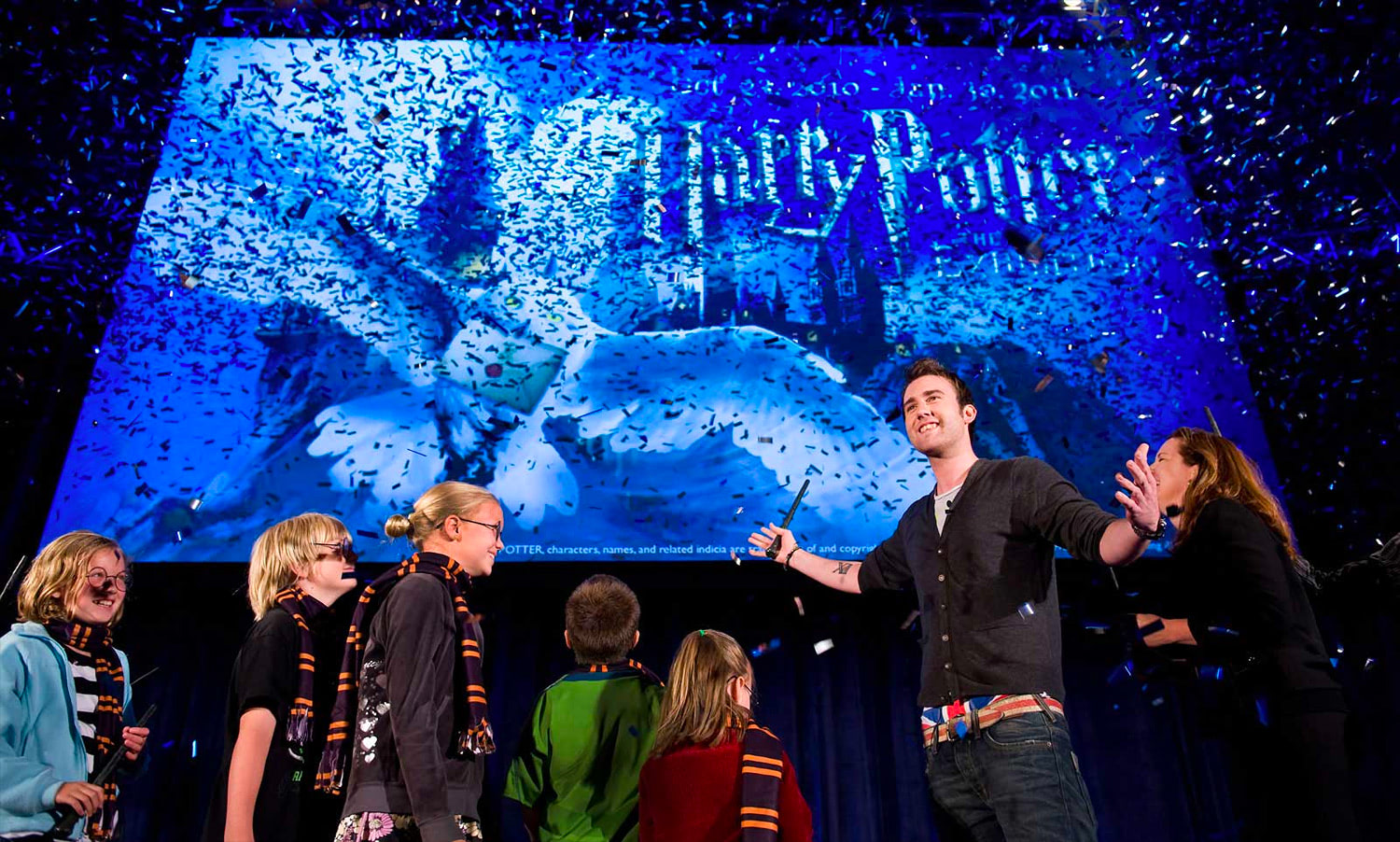 Matthew Lewis at the 'Harry Potter' exhibition announcement