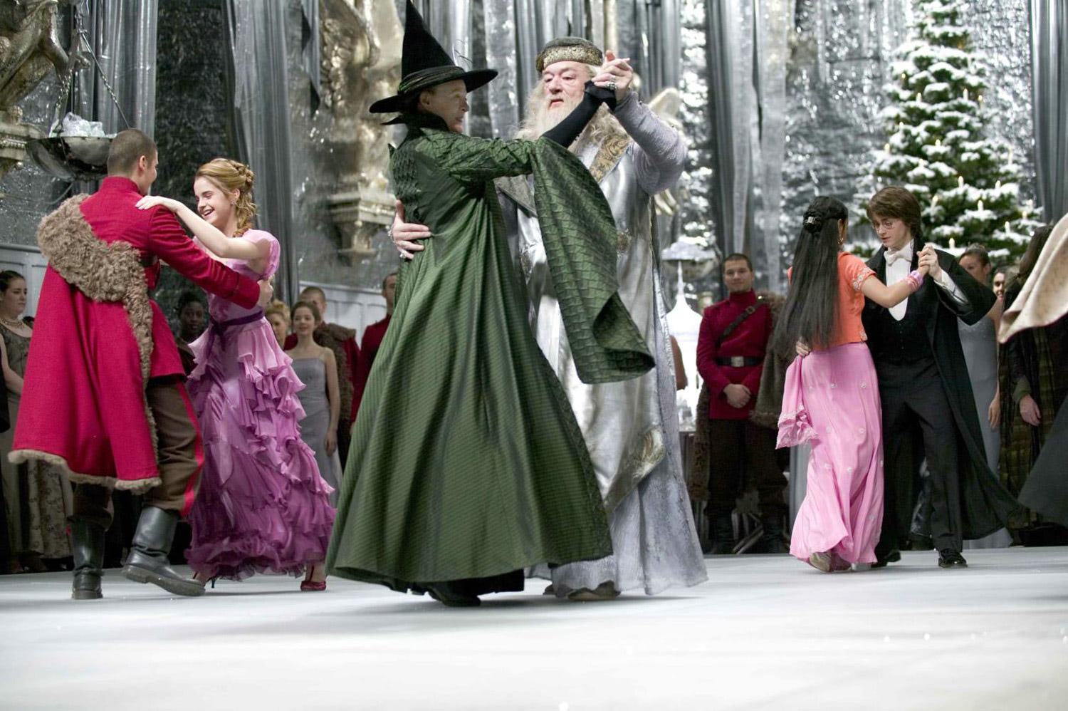 McGonagall and Dumbledore dance