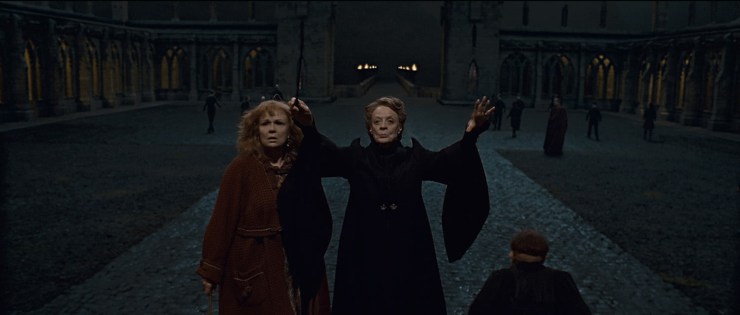 McGonagall brings statues to life