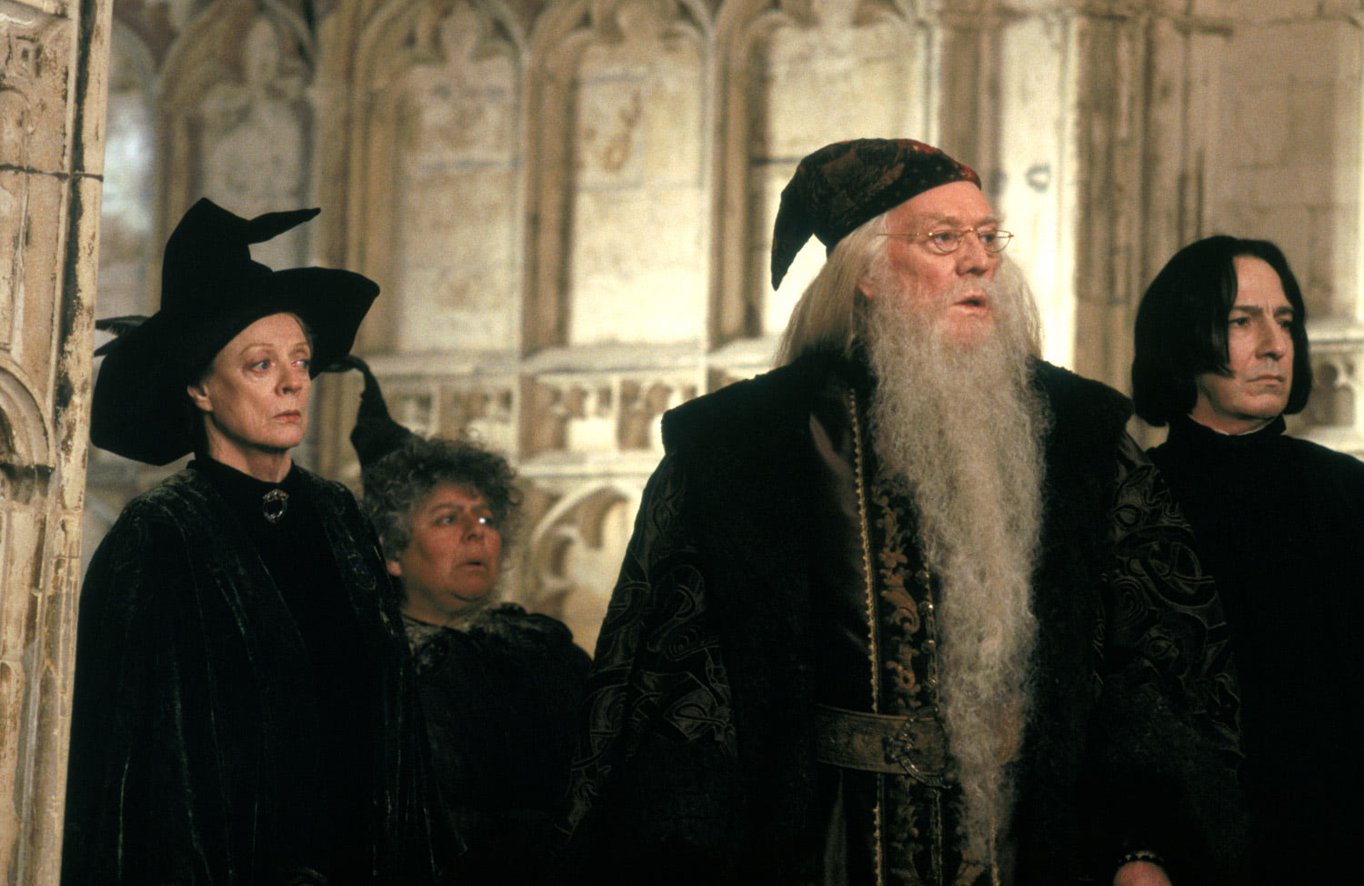 McGonagall, Sprout, Dumbledore and Snape