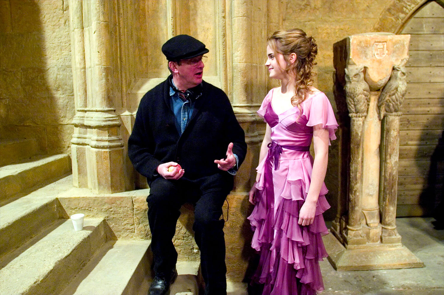 Mike Newell and Emma Watson
