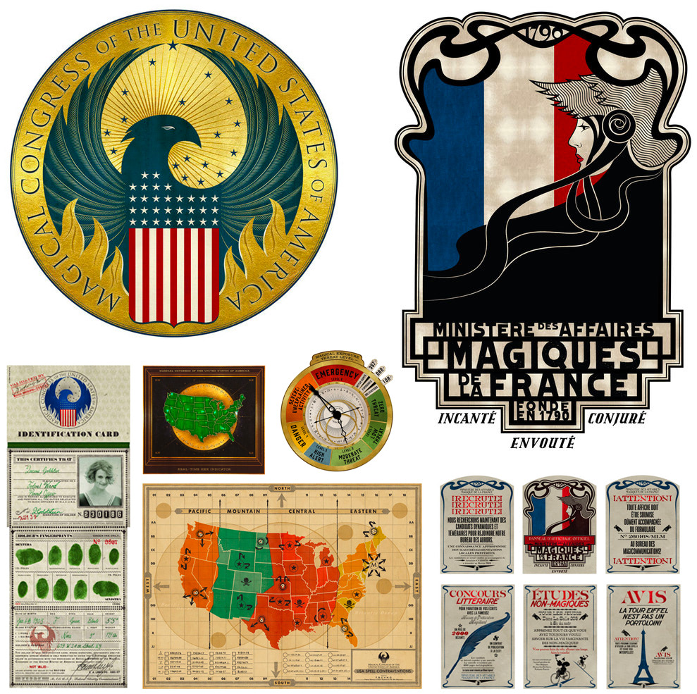 American and French Ministry of Magic logos