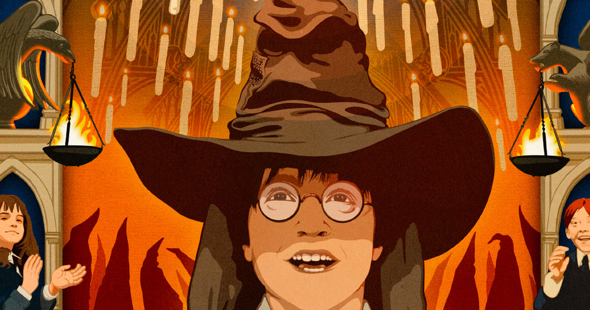 MinaLima's fourth 'Harry Potter' print celebrates the Boy Wizard's sorting