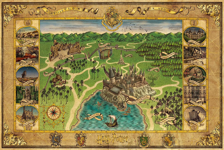 MinaLima Hogwarts map