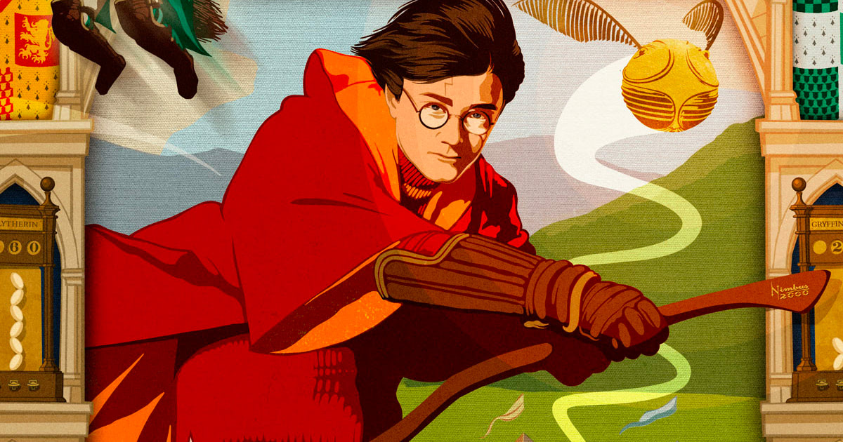 New MinaLima print celebrates Harry's first Quidditch match