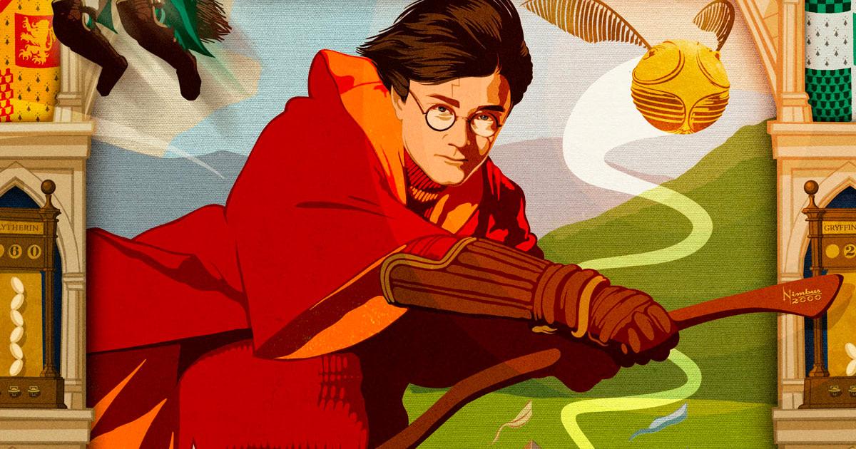 New MinaLima print celebrates Harry's first Quidditch match