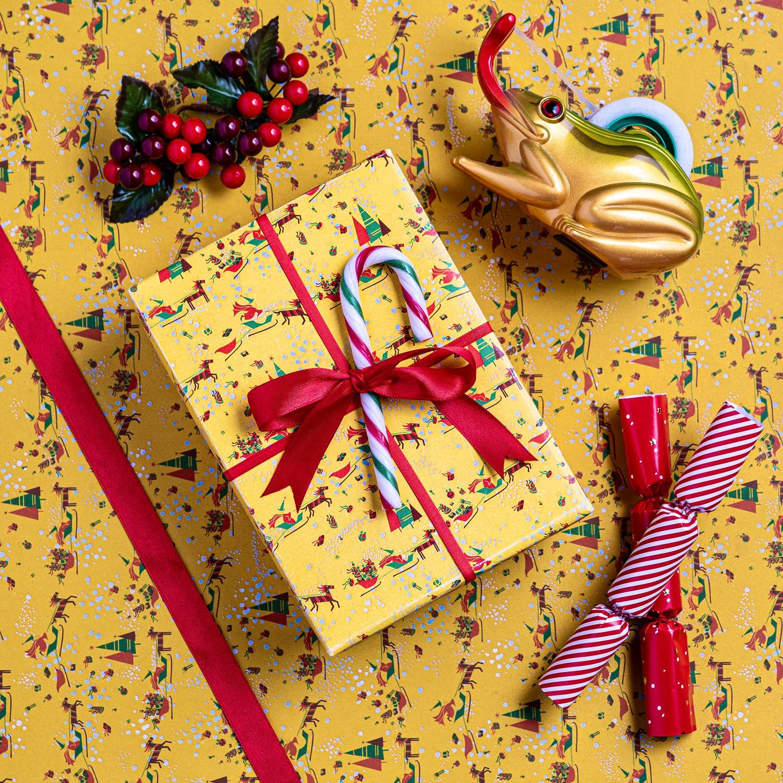 MinaLima Santa's Sleigh wrapping paper