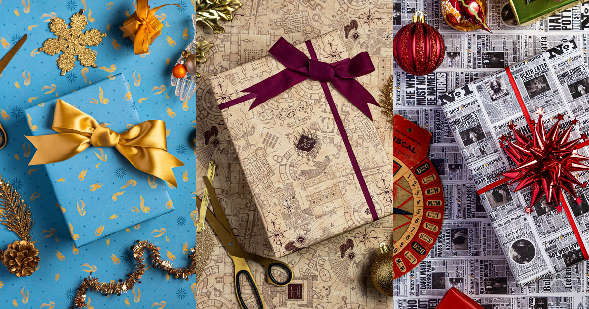 MinaLima release 'Harry Potter' wrapping paper collection