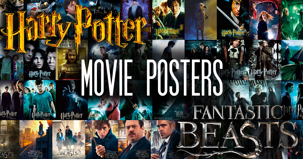 'Harry Potter' and 'Fantastic Beasts' movie posters