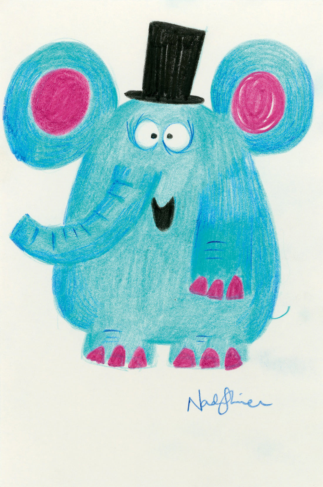 Elephant (Nadia Shireen Patronus on a Postcard)