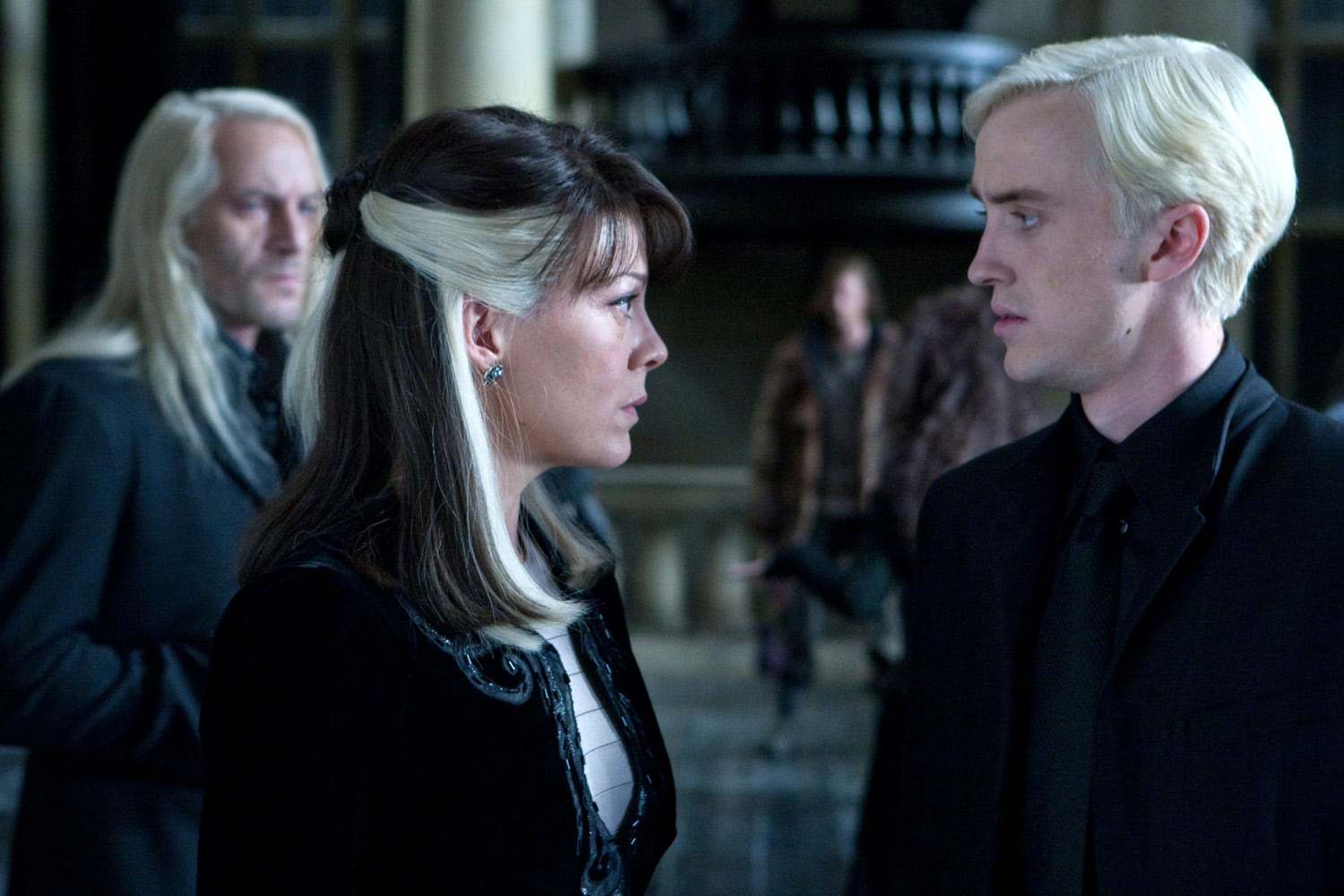 Narcissa and Draco in Malfoy Manor