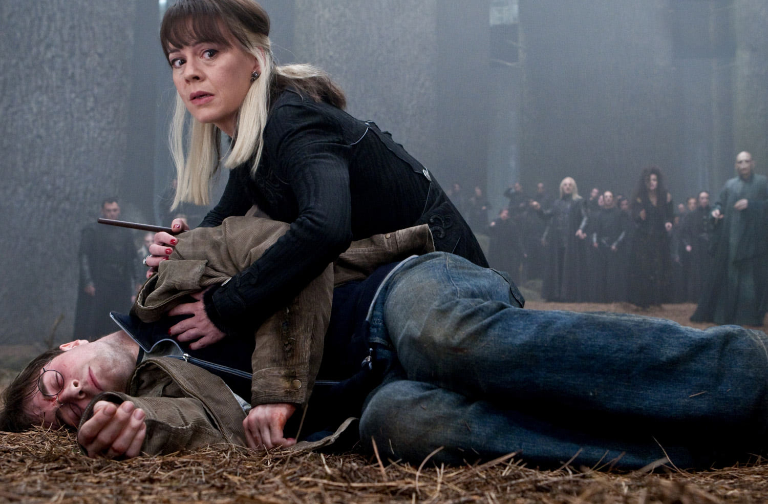 Narcissa Malfoy inspects Harry