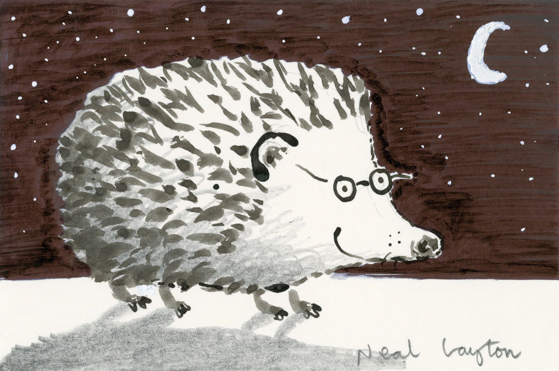 Hedgehog (Neal Layton Patronus on a Postcard)