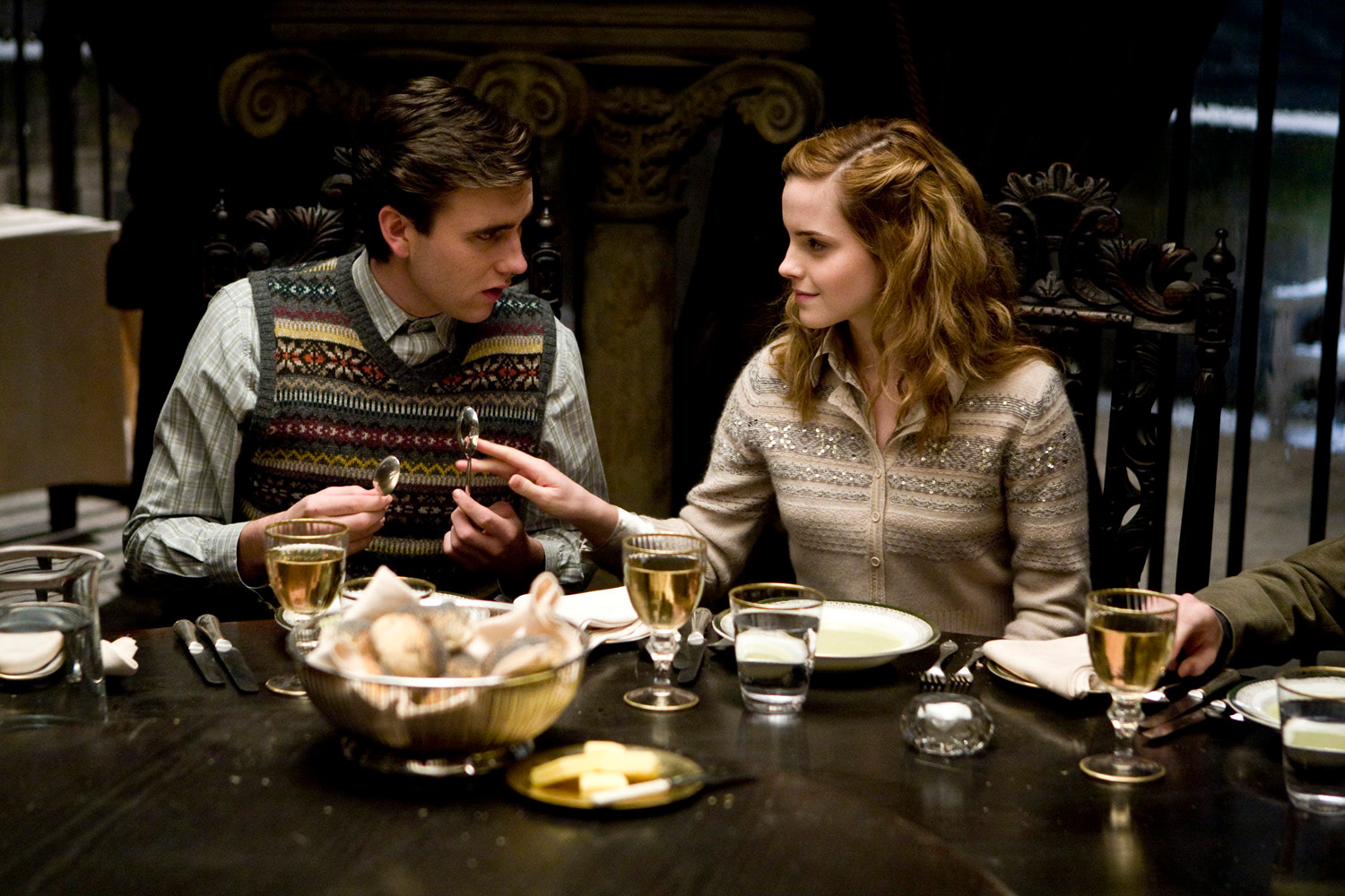 Neville and Hermione at the Slug Club