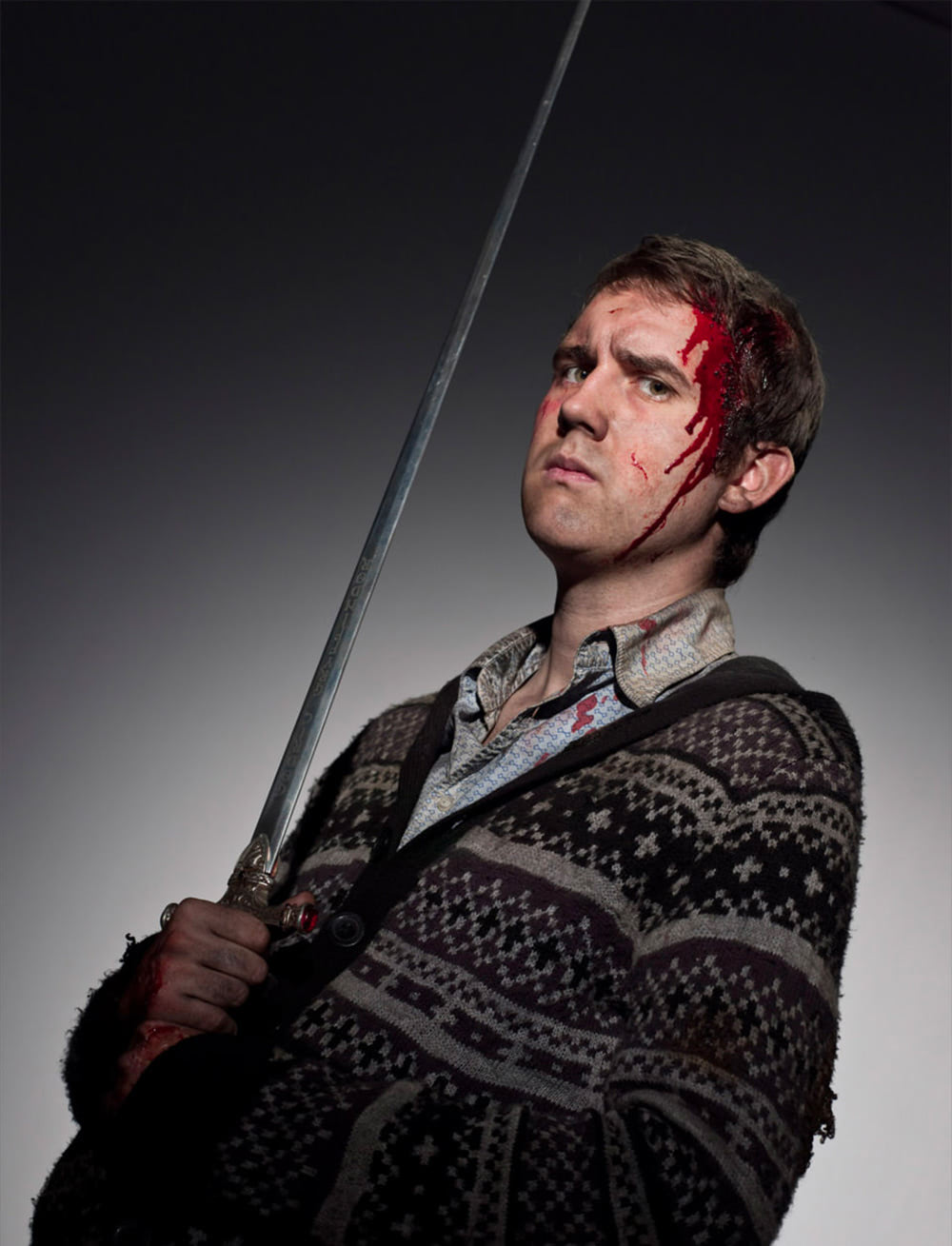 Neville Longbottom with the Sword of Gryffindor