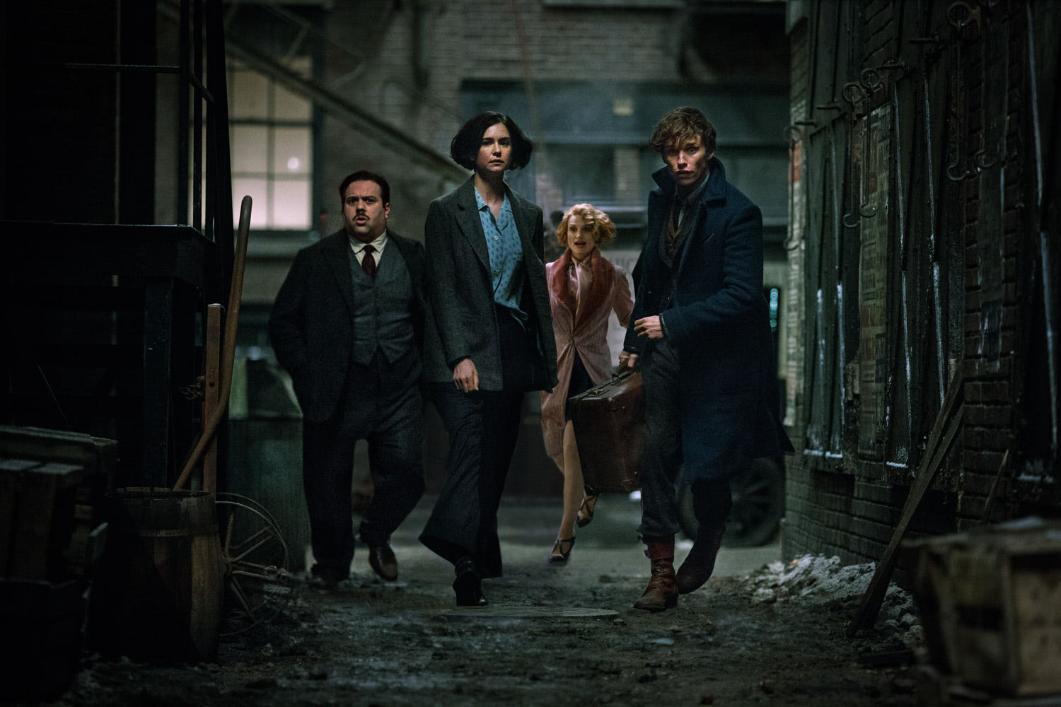 Jacob, Tina, Queenie and Newt in New York