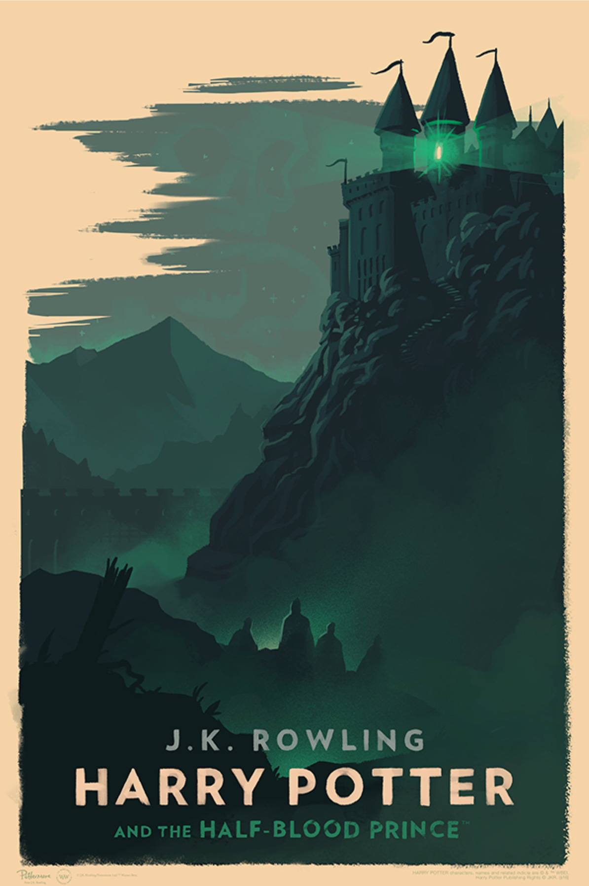 'Half-Blood Prince' Olly Moss Hogwarts poster